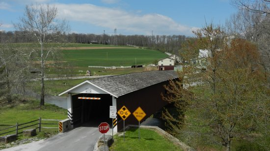 Strasburg Scooters: Inside a covered bridge