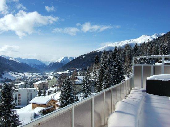 Jugendherberge Davos: Blick von Dachterrasse