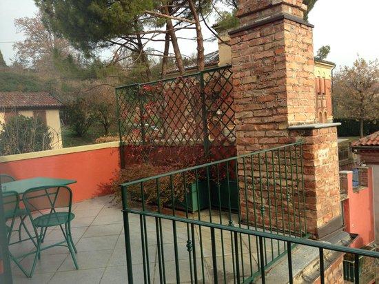 Hotel Castello: Terrasse unseres Zimmers