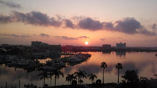 Pier House 60 Marina Hotel: sunrise from Pier House 60 Hotel balcony...picture perfect....gorgeous