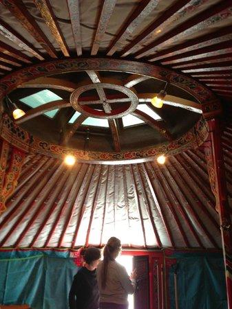 Rochers-de-Naye Yurts: Innenleben der Jurte
