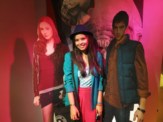 Spaceport: Lifesize cardboard cutouts of the actors