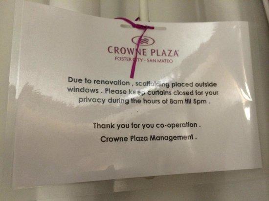 Crowne Plaza Foster City - San Mateo: Hotel en renovación