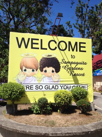 Sampaguita Gardens: Sign out front