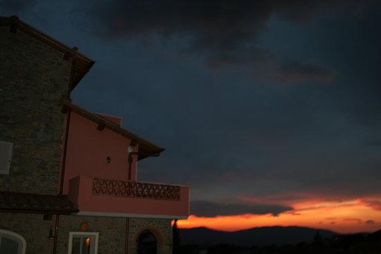 La Terrazza Di Reggello : il tramonto