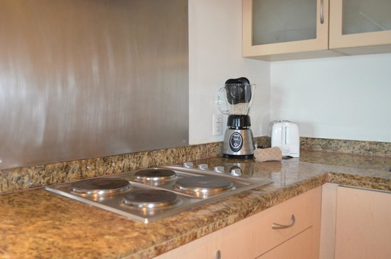 The Grand Mayan Acapulco: Electric stove, blender & toaster