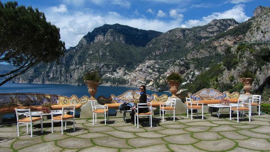 Il San Pietro di Positano : view from the hotel terrace (Positano in the background)