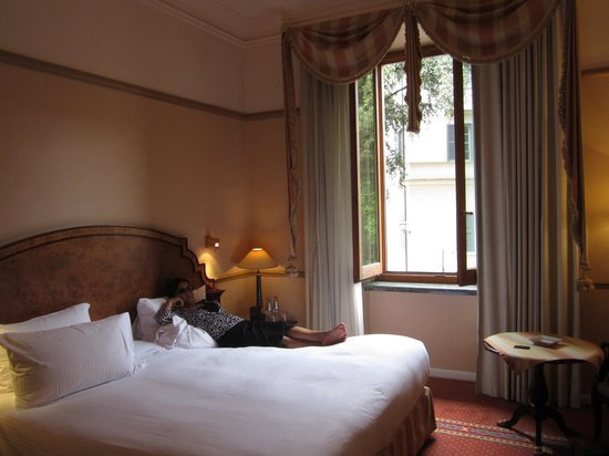 Sofitel Rome Villa Borghese: bed is two twins together