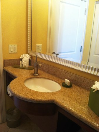 Residence Inn by Marriott St. Petersburg Treasure Island: Sink separate from Shower