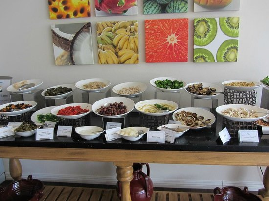 The BodyHoliday, LeSport : Extensive Salad bar