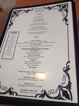 Clarion Hotel Liffey Valley: The 25 euro 3 course menu