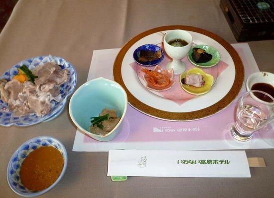Iwanai Kogen Hotel : 前菜