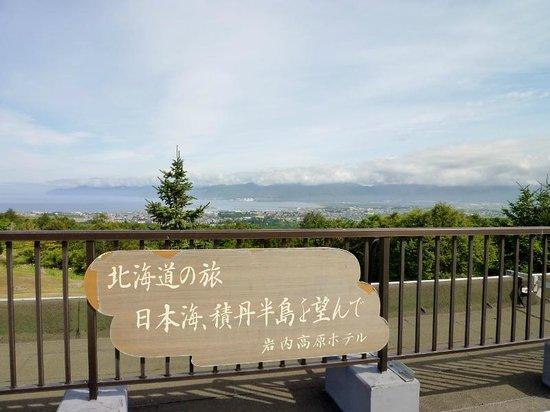 Iwanai Kogen Hotel : テラスからの眺望