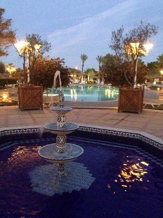 Royal Kenz Hotel Thalasso & Spa : view down to pools