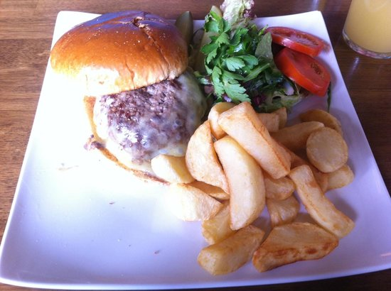 Cow and Plough: Burger and Chips