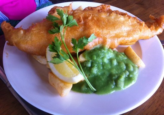 Cow and Plough: Fish and Chips
