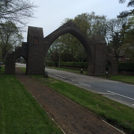 Glenesk Hotel: The arch at the edge of the village