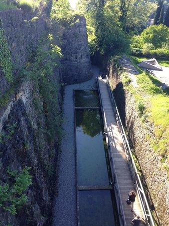Funicolare San Vigilio : Specchio d'acqua all'interno del parco