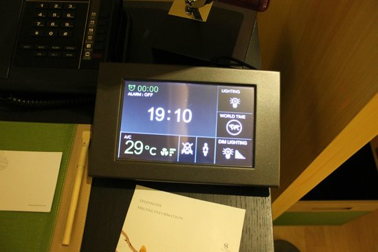 The Senses Resort: tablet that controls lighting and aircon in the senses suite