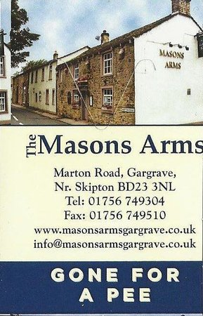 Masons Arms : Don't nick my beer