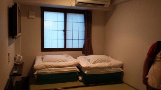 Capsule Ryokan Kyoto : camera doppia con bagno capsule ryokan!