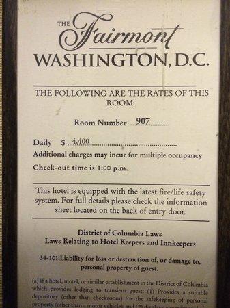 Fairmont Washington, D.C. Georgetown: What?!?!? =)