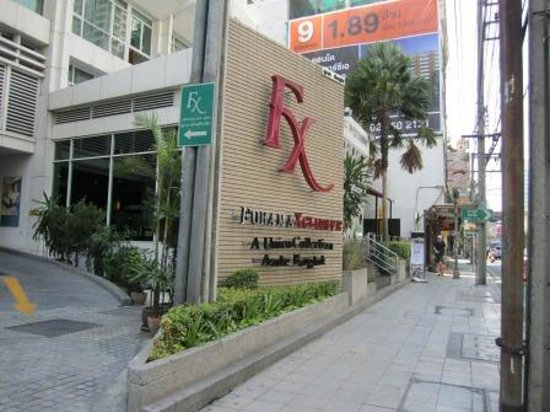 FuramaXclusive Asoke: the hotel from the outside