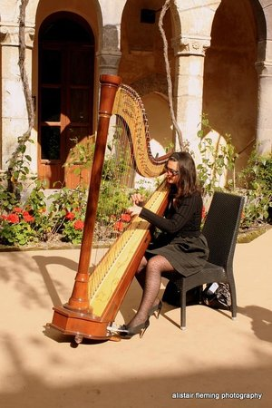 Grand Hotel Riviera: Harpist at wedding in Sorrneto
