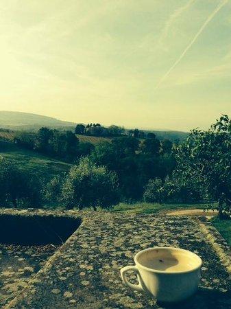 Salvadonica - Borgo Agrituristico del Chianti: Morning coffee