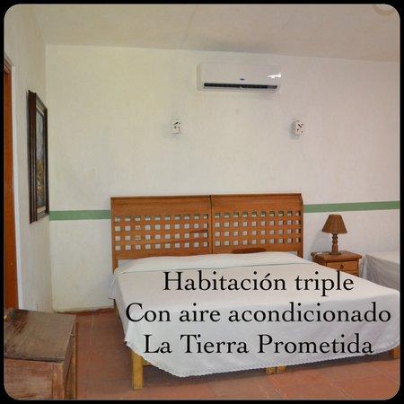 Hotel La Tierra Prometida : Habitación con aire acondicionado