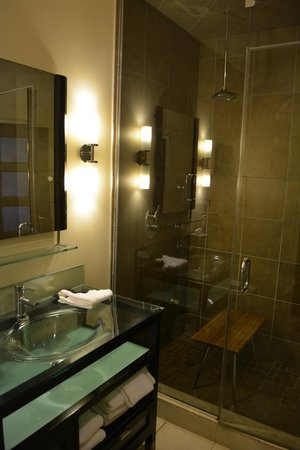 Sterling Inn & Spa : Sink and shower