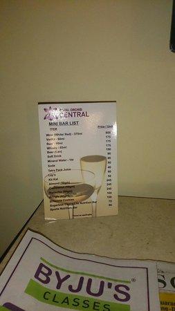 Royal Orchid Central : Menu