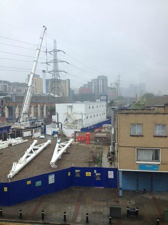 Ibis Styles London Excel: Area outside of the hotel showing all the construction