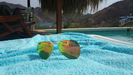 Casa Los Cerros: Una deliciosa piscina con una hermosa vista.