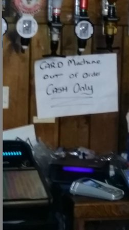 The South Cliffe Hotel: The Sign they display before you pay with your card