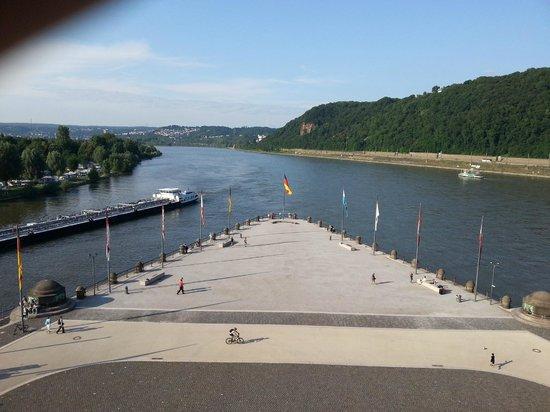 Deutsches Eck (German Corner): Слияние рек