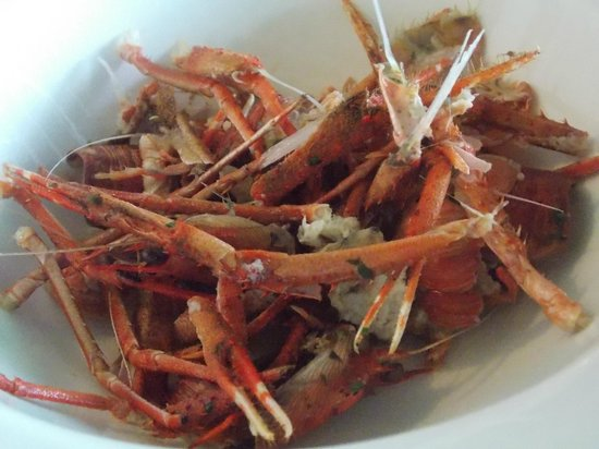 The Lake of Menteith Hotel: the left-overs from the squab lobsters