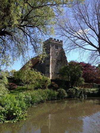 Church of St George: St George & Carp Pond from Arreton Barns