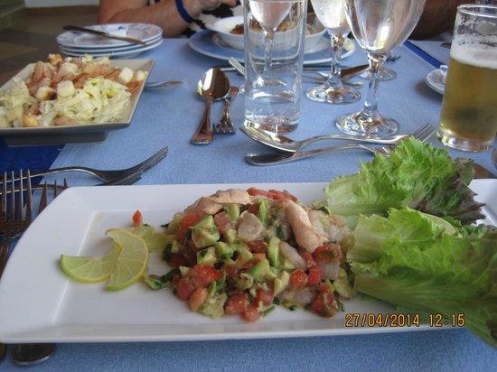 Fish Market: prawn and advocado starter