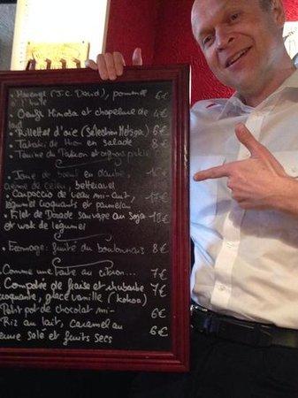 Les Canailles: menu for Sunday 4 May 2014