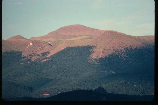 The Nature Place: Our most iconic  view of Pike's Peak from our lodge deck.
