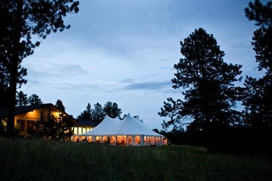 The Nature Place: Big event tent setup.