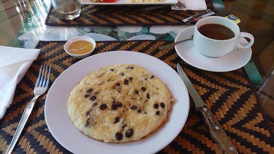 Khao Sok Las Orquideas Resort: Pfannkuchen zum Frühstück