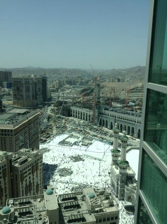 Raffles Makkah Palace: View from one of the windows in room 1814