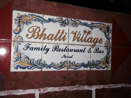 Bhatti Village: Potugese Porcelin Name at Entrance