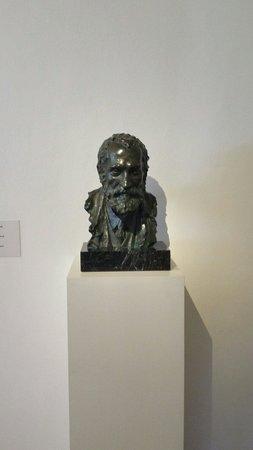 Sculpture of Gaudi inside the Gaudi House Museum