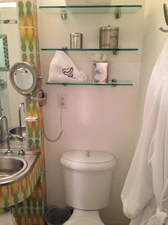 The Hotel of South Beach: Small bathroom in standard rooms