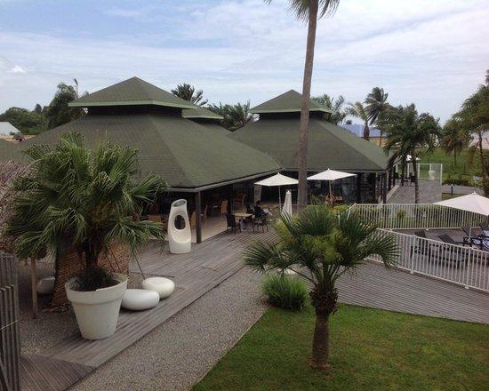 Grand Hotel Montabo : Restaurant et bar vus de la chambre