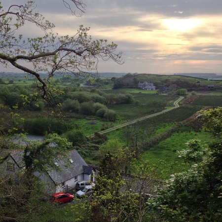 A view from the hill behind the holiday cottage, with Y Lasynys Fawr in the distance.