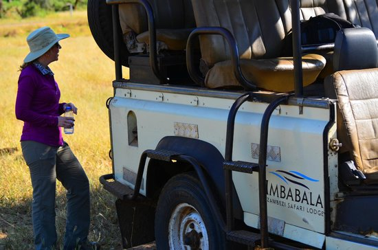 Imbabala Zambezi Safari Lodge: A shot of the vehicle you do your drives in.